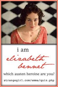I am Elizabeth Bennet!