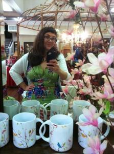 Trashy Diva 40s Dress in Olivine Floral