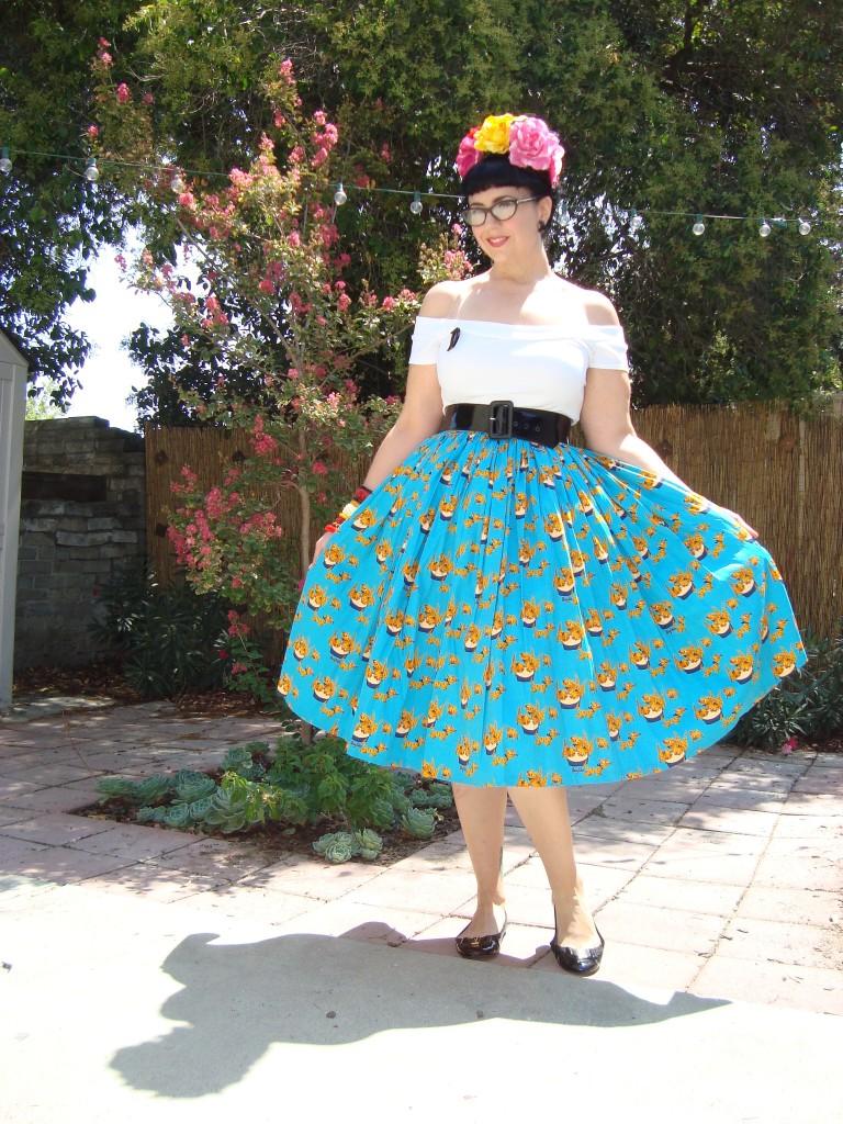 Mary Blair cat print skirt