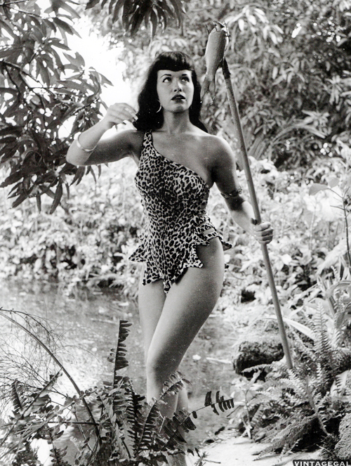 Betty Page Photos: Tiki, Vintage Shaheen, And Pinup With Holly West
